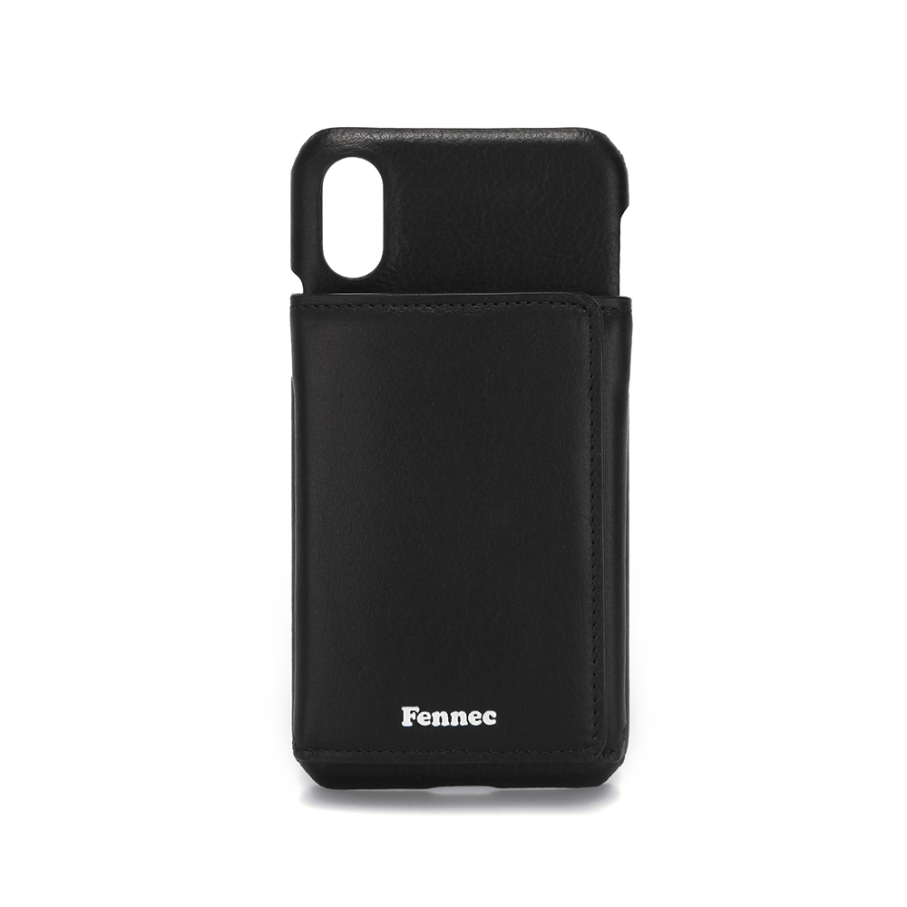 [페넥]FENNEC LEATHER iPHONE X/XS TRIPLE POCKET CASE - BLACK 레더 아이폰 케이스