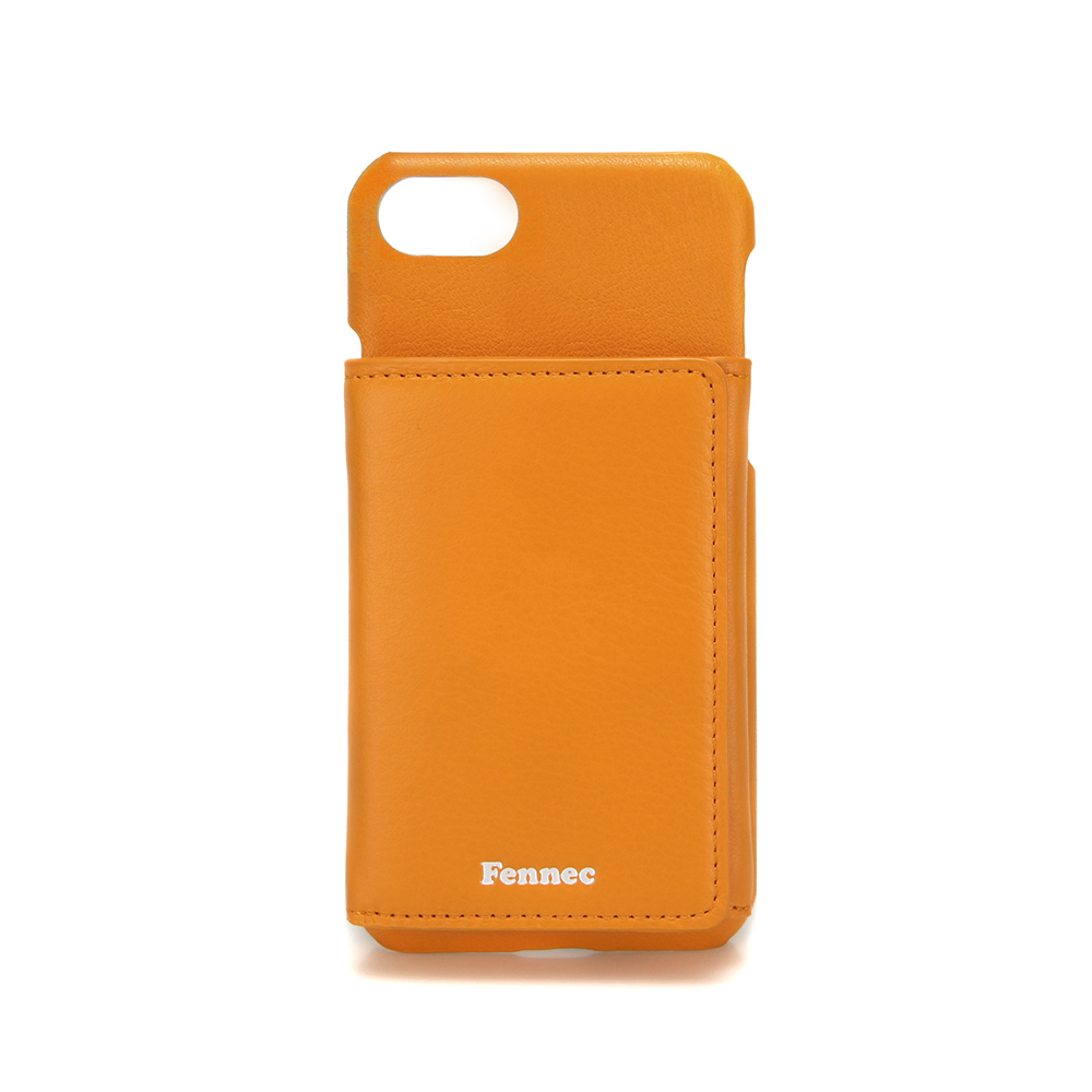 [페넥]FENNEC LEATHER iPHONE 7/8 TRIPLE POCKET CASE - MANDARIN 레더 아이폰 케이스