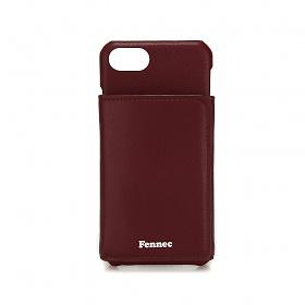 [페넥]FENNEC LEATHER iPHONE 7/8 TRIPLE POCKET CASE - WINE 레더 아이폰 케이스