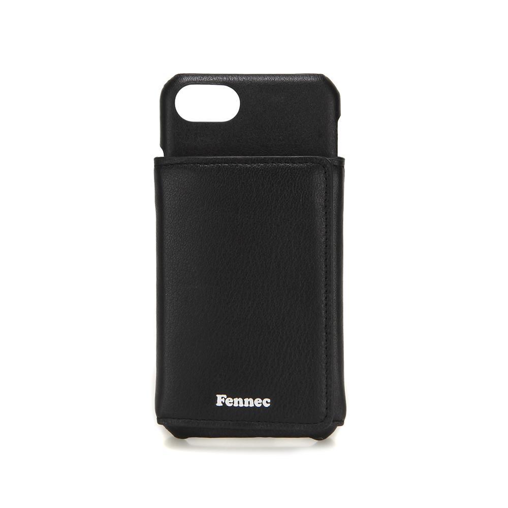 [페넥]FENNEC LEATHER iPHONE 7/8 TRIPLE POCKET CASE - BLACK 레더 아이폰 케이스