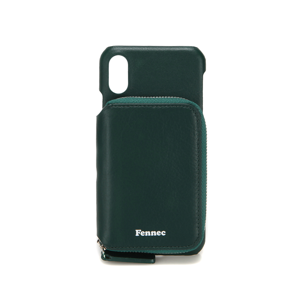 [페넥]FENNEC LEATHER iPHONE X/XS MINI POCKET CASE - MOSS GREEN 레더 아이폰 케이스