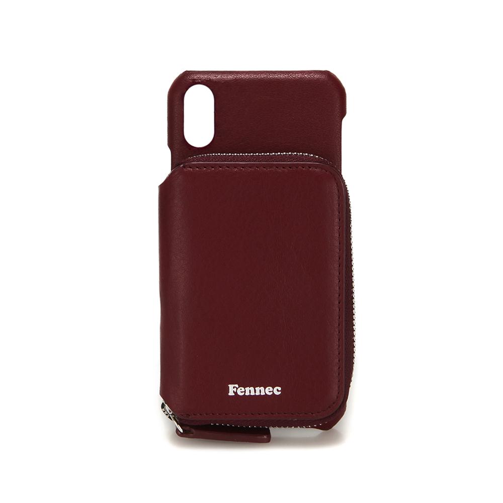 [페넥]FENNEC LEATHER iPHONE X/XS MINI POCKET CASE - WINE 레더 아이폰 케이스