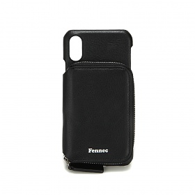 [페넥]FENNEC LEATHER iPHONE X/XS MINI POCKET CASE - BLACK 레더 아이폰 케이스