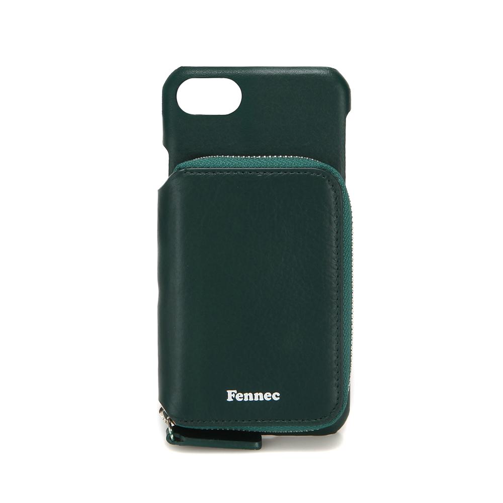[페넥]FENNEC LEATHER iPHONE 7/8 MINI POCKET CASE - MOSS GREEN 레더 아이폰 케이스