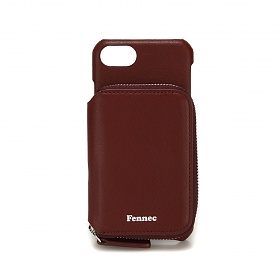 [페넥]FENNEC LEATHER iPHONE 7/8 MINI POCKET CASE - WINE 레더 아이폰 케이스