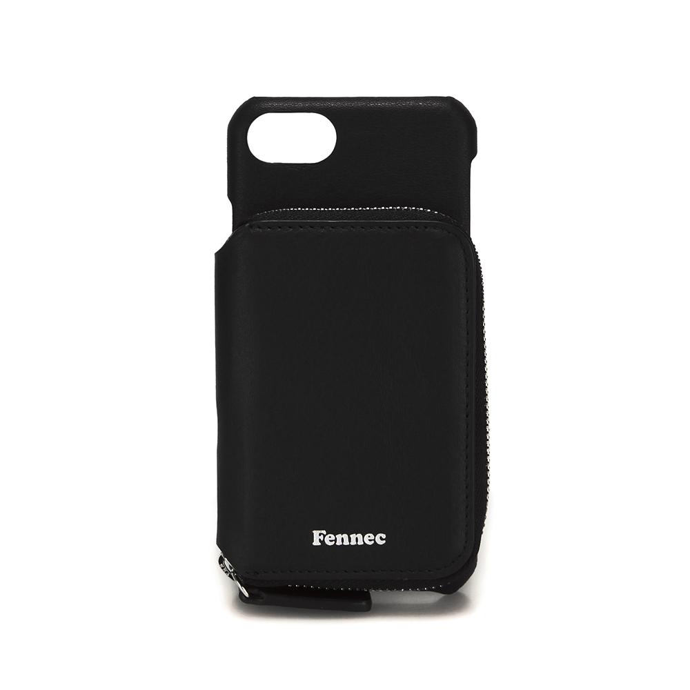 [페넥]FENNEC LEATHER iPHONE 7/8 MINI POCKET CASE - BLACK 레더 아이폰 케이스