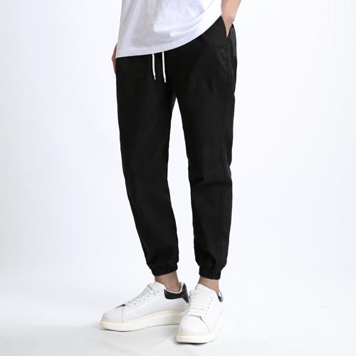 [쟈니웨스트] JHONNYWEST - Linen Span Jogger Pants (Black) 조거팬츠