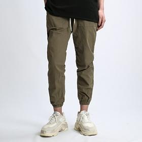 [쟈니웨스트] JHONNYWEST - Linen Span Jogger Pants (Olive) 조거팬츠