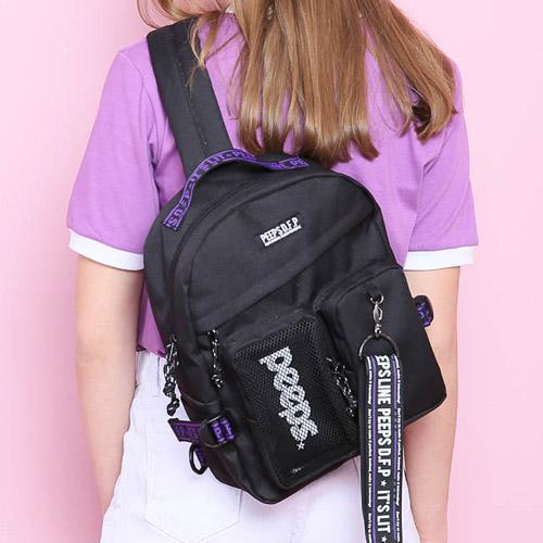 핍스 PEEPS advance2 sling bag(black) 슬링백