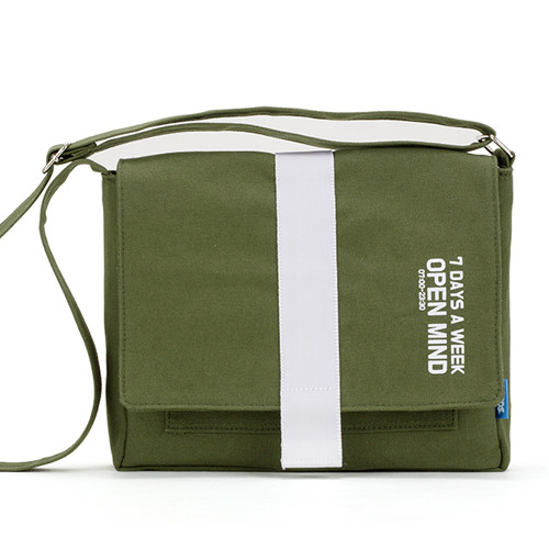 [핍스] PEEPS open mind mini cross bag(khaki) 미니 크로스백