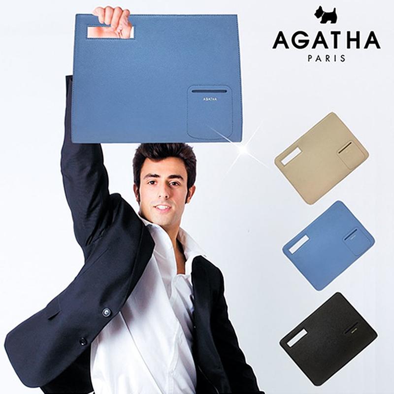 아가타 소가죽 스퀘어 클러치백 AGT161B-10 브리프케이스 정품