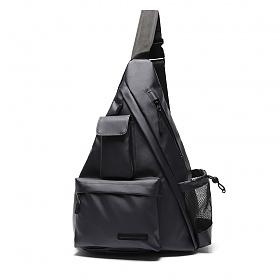 [에이지그레이]유틸리티 트라이 앵글 슬링백(딥 네이비) 테크가방