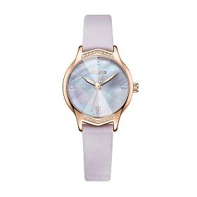 줄리어스 - 라벤더 여성 가죽시계 (5color)