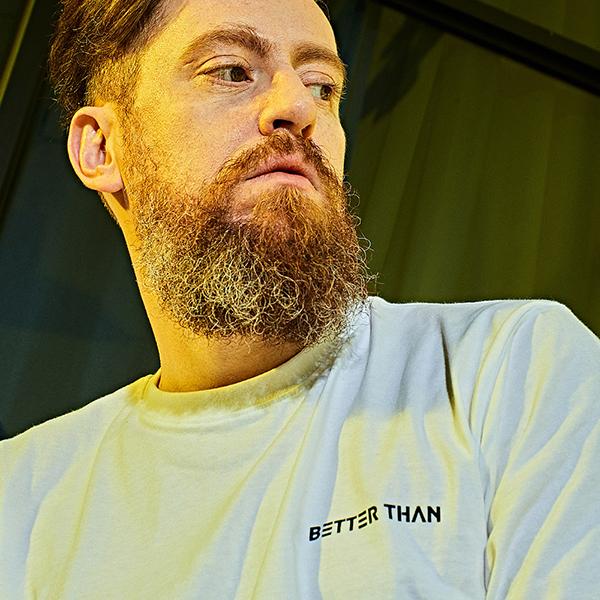 [베러댄88] BETTER THAN 88 - M1192MW 레드우드 오버핏 워싱 20수 반팔티셔츠 모노화이트
