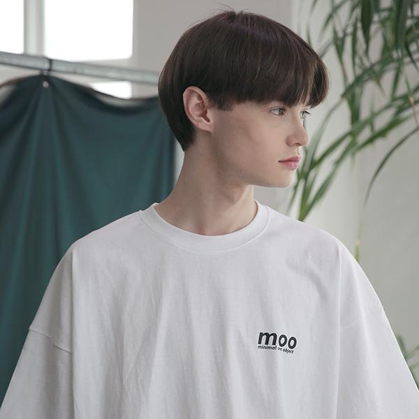 [엠오오] MOO - Symbolize Oversize T-shirts White 오버사이즈 티셔츠 반팔티
