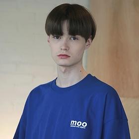 [엠오오] MOO - Symbolize Oversize T-shirts Cobalt 오버사이즈 티셔츠 반팔티