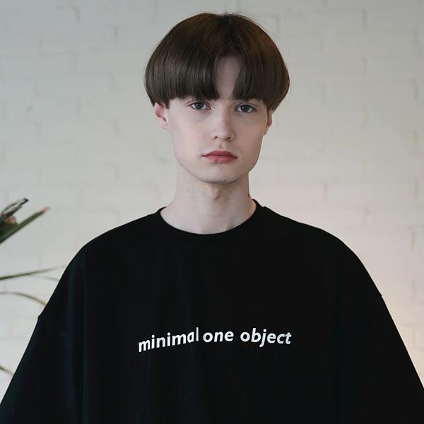 [엠오오] MOO - General Oversize T-shirts Black 오버사이즈 티셔츠 반팔티