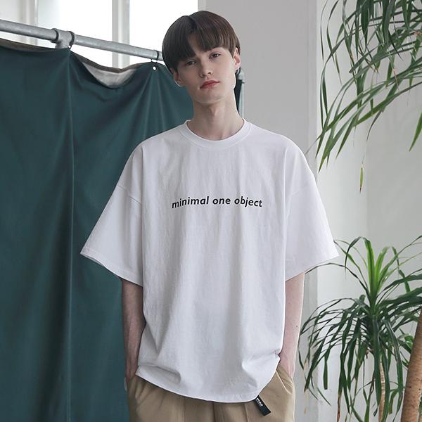 [엠오오] MOO - General Oversize T-shirts White 오버사이즈 티셔츠 반팔티