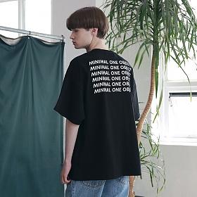 [엠오오] MOO - Several Logo Oversize T-shirts Black 오버사이즈 티셔츠 반팔티