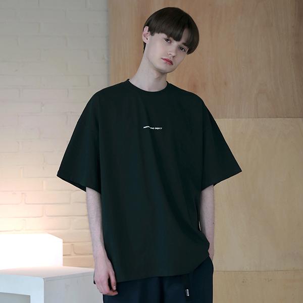 [엠오오] MOO - Several Logo Oversize T-shirts Deep green 오버사이즈 티셔츠 반팔티