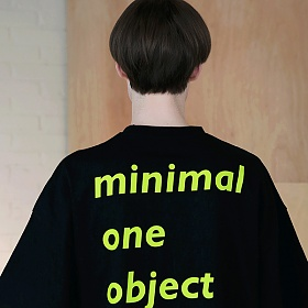 [엠오오] MOO - Meaning Oversize T-shirts Black 오버사이즈 티셔츠 반팔티