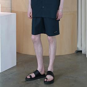 [엠오오] MOO - Minimal Washed Linen Short Pants Navy 미니멀 워시드 린넨 쇼트 팬츠 반바지