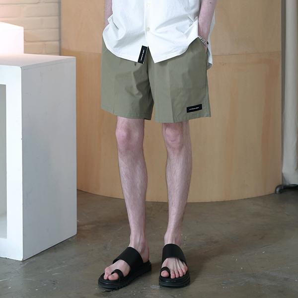 [엠오오] MOO - Minimal Washed Linen Short Pants Khaki 미니멀 워시드 린넨 쇼트 팬츠 반바지