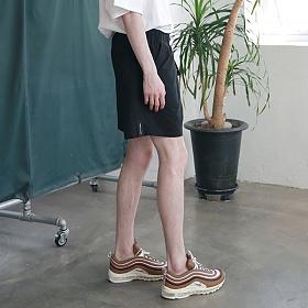 [엠오오] MOO - Utility Washed Linen Short Pants Black 린넨 쇼트팬츠 반바지