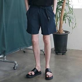 [엠오오] MOO - Utility Washed Linen Short Pants Navy 린넨 쇼트팬츠 반바지