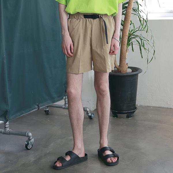 [엠오오] MOO - Utility Washed Linen Short Pants Beige 린넨 쇼트팬츠 반바지