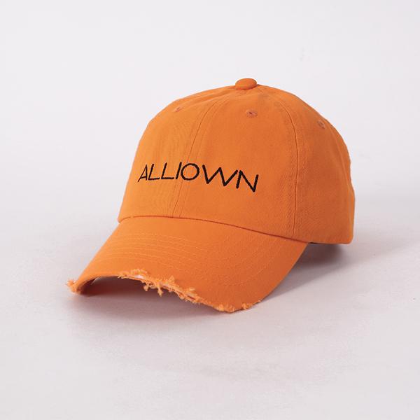 올라온 - Damage Ballcap - Orange 볼캡