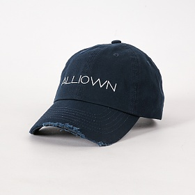 올라온 - Damage Ballcap - Navy 볼캡