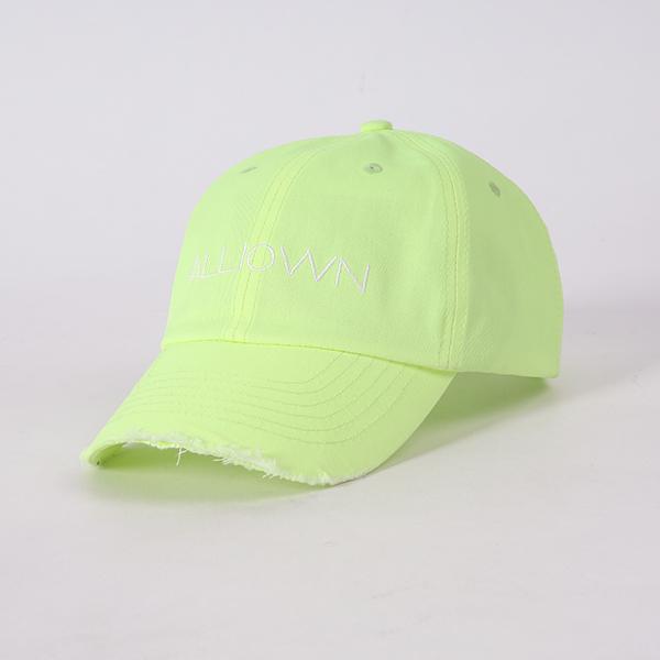올라온 - Damage Ballcap - Neon 볼캡