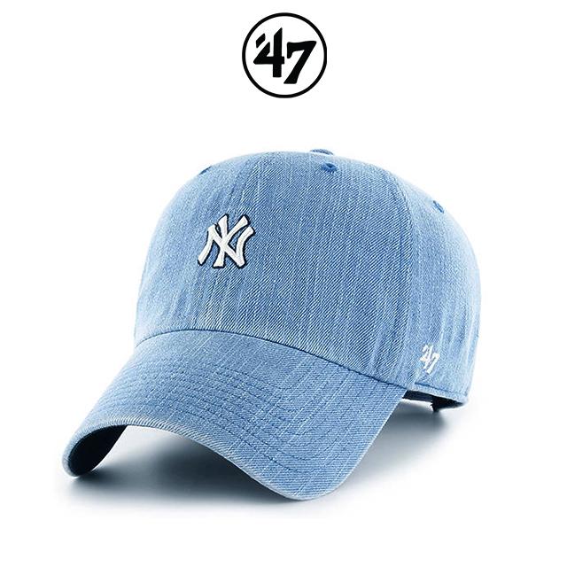 47브랜드 모자 데님(NY) 여성용 스몰로고 MLB모자 NY양키스 볼캡 야구모자 정품 국내배송