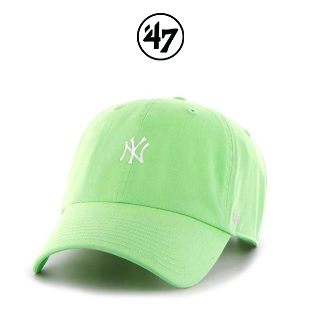 47브랜드 모자 민트(NY) 스몰로고 MLB모자 NY양키스 볼캡 야구모자