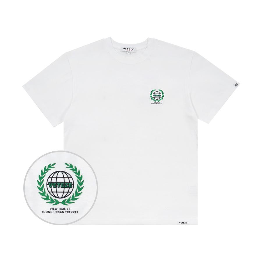 베테제 - Earth Logo Campaign T-Shirt (white) 어스 로고 캠페인 티셔츠 (화이트)
