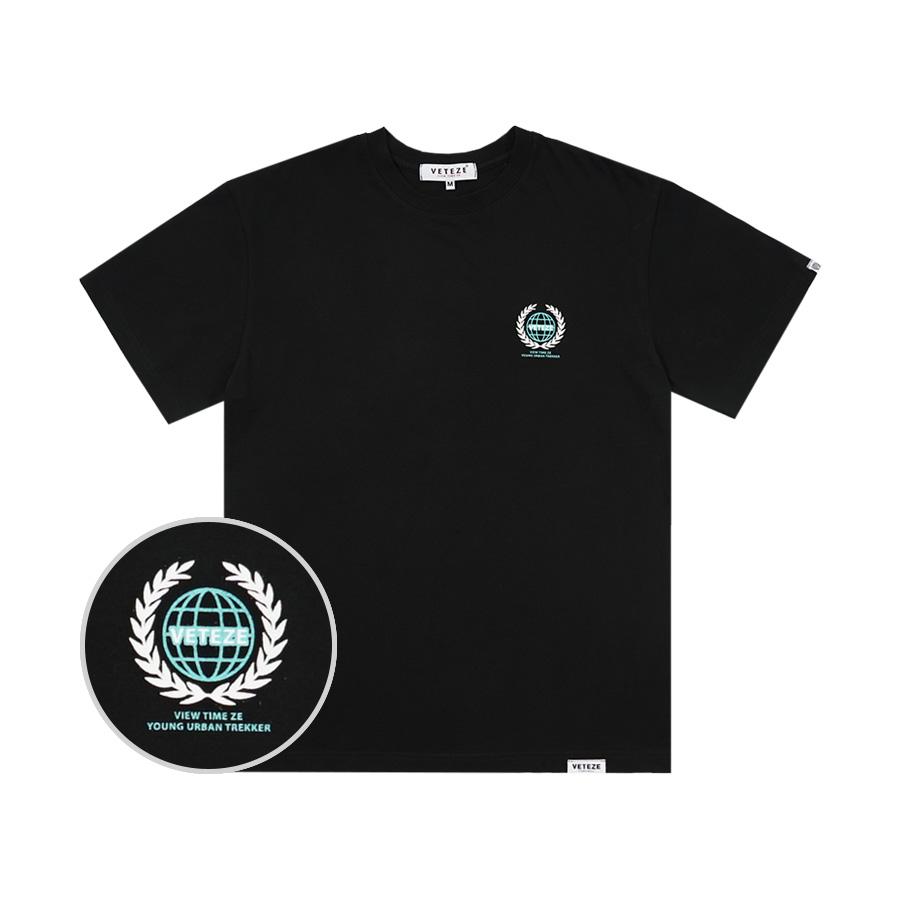 베테제 - Earth Logo Campaign T-Shirt (black) 어스 로고 캠페인 티셔츠 (블랙)