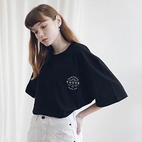 아더로브 유니섹스 유스 서클 티셔츠 ATS191001-BK
