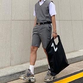 [이영]LEEYOUNG CONTOUR 19 BK Tote Bag (black) 토트백 클러치백