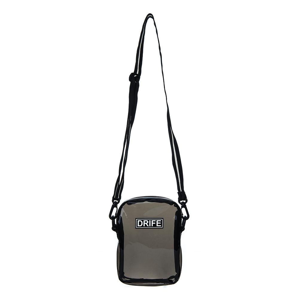 [드라이프]DRIFE - PVC MINI CROSS BAG - BLACK 투명 클리어백 미니 크로스