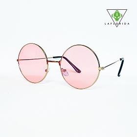 [라플로리다] 아이다 핑크 틴트 렌즈 선글라스 & 체인 SET