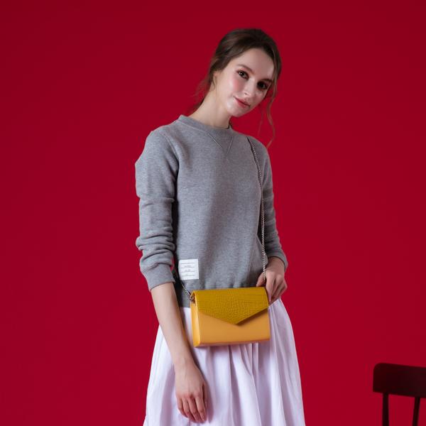[아텀스튜디오]ATEMSTUDIO 하코 미니 크로스백 크로커다일 옐로우 가죽 레더 크로스백 여성가방