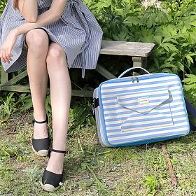 [와드로브]WARDROBE - CARRIER BOSTON BAG_BLUE 캐리어 여행용 보스턴백