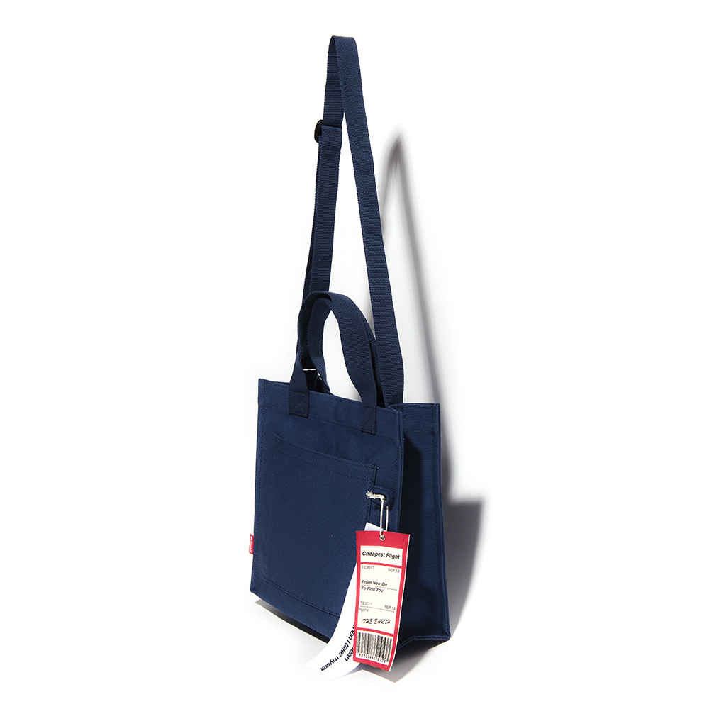 [디얼스]THE EARTH - CHEAPEST FLIGHT ECO BAG - NAVY 에코백