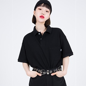 [피스메이커]OV POCKET PK SHIRTS (BLACK) 카라티
