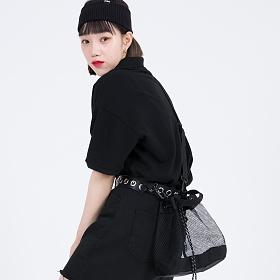 [피스메이커]MESH BUCKET BAG (BLACK) 버킷백 크로스백