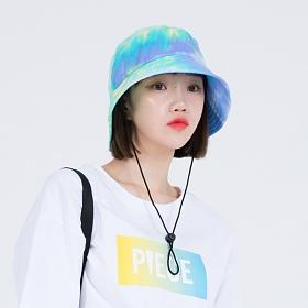 [피스메이커]TIE-DYE STRING BUCKET HAT (BLUE) 타이다이 버킷햇