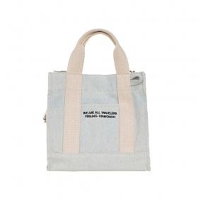 [비아모노] VIAMONOH DAILY MINI CANVAS BAG (DENIM) 에코백 토트백 미니크로스백 가방