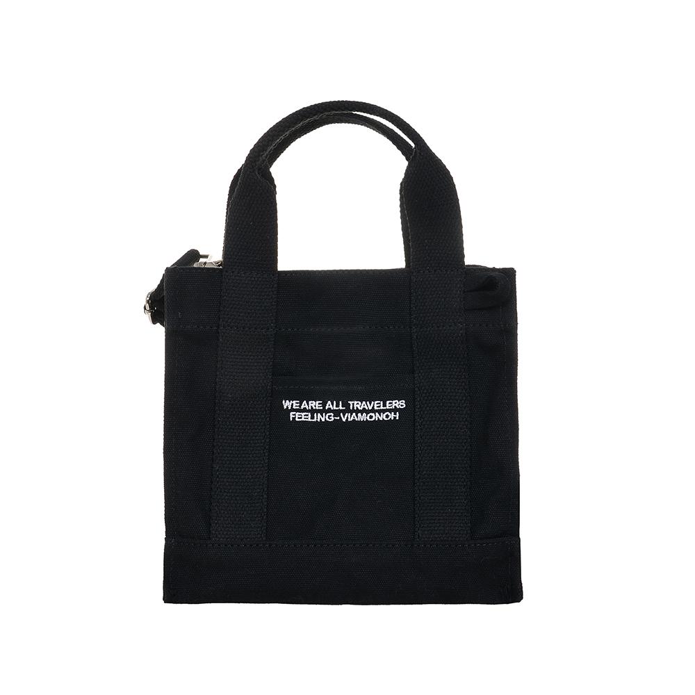 [비아모노] VIAMONOH DAILY MINI CANVAS BAG (BLACK) 에코백 토트백 미니크로스백 가방