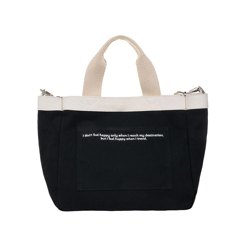 [비아모노] VIAMONOH DAILY MINI TOTE CANVAS BAG (BLACK) 에코백 토트백 미니크로스백 가방